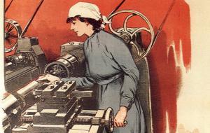 Женский труд и солдаты